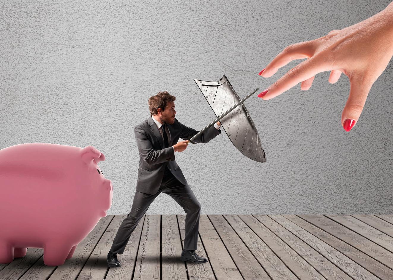 Конфликт мужа и жены из-за денег