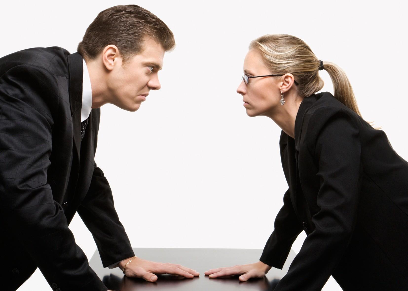 Мужчина и женщина конфликт