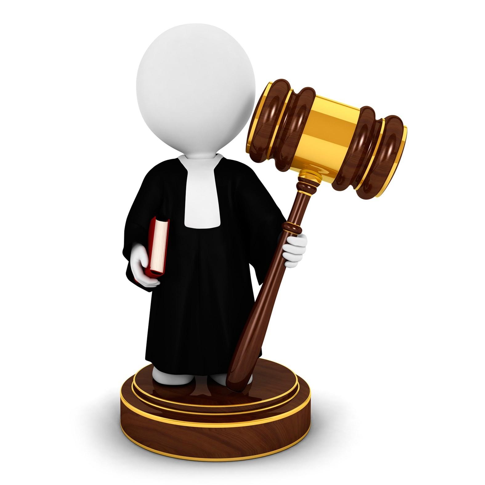 Человечек в мантии судьи