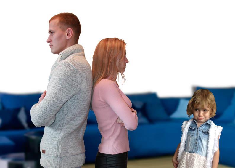 Семейный конфликт в присутствии ребенка